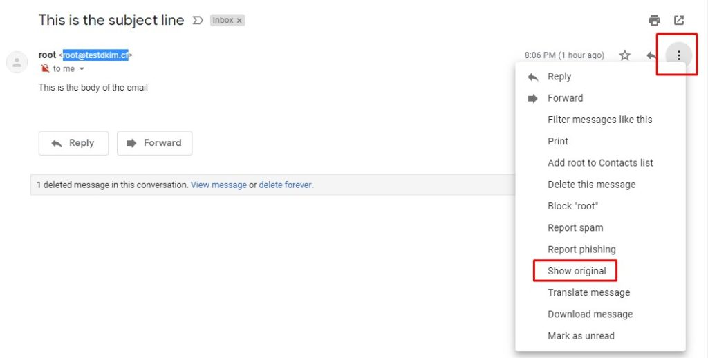 Gmail: Show Original