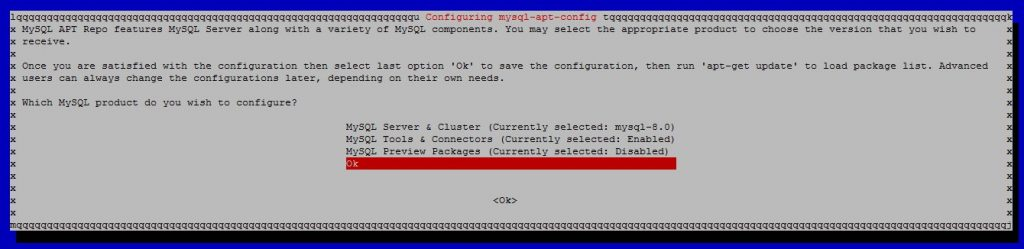 Select the MYSQL Server version