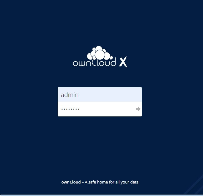 ownCloud Login interface